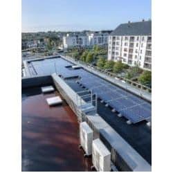 Centrale solaire à Saint-Malo, en Bretagne.