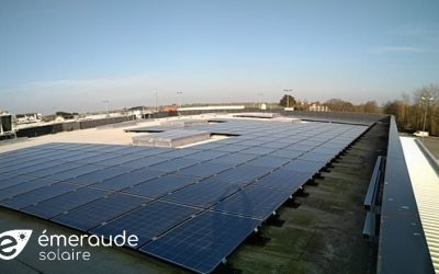 Centrale solaire pour autoconsommation : centre Leclerc de Lannilis