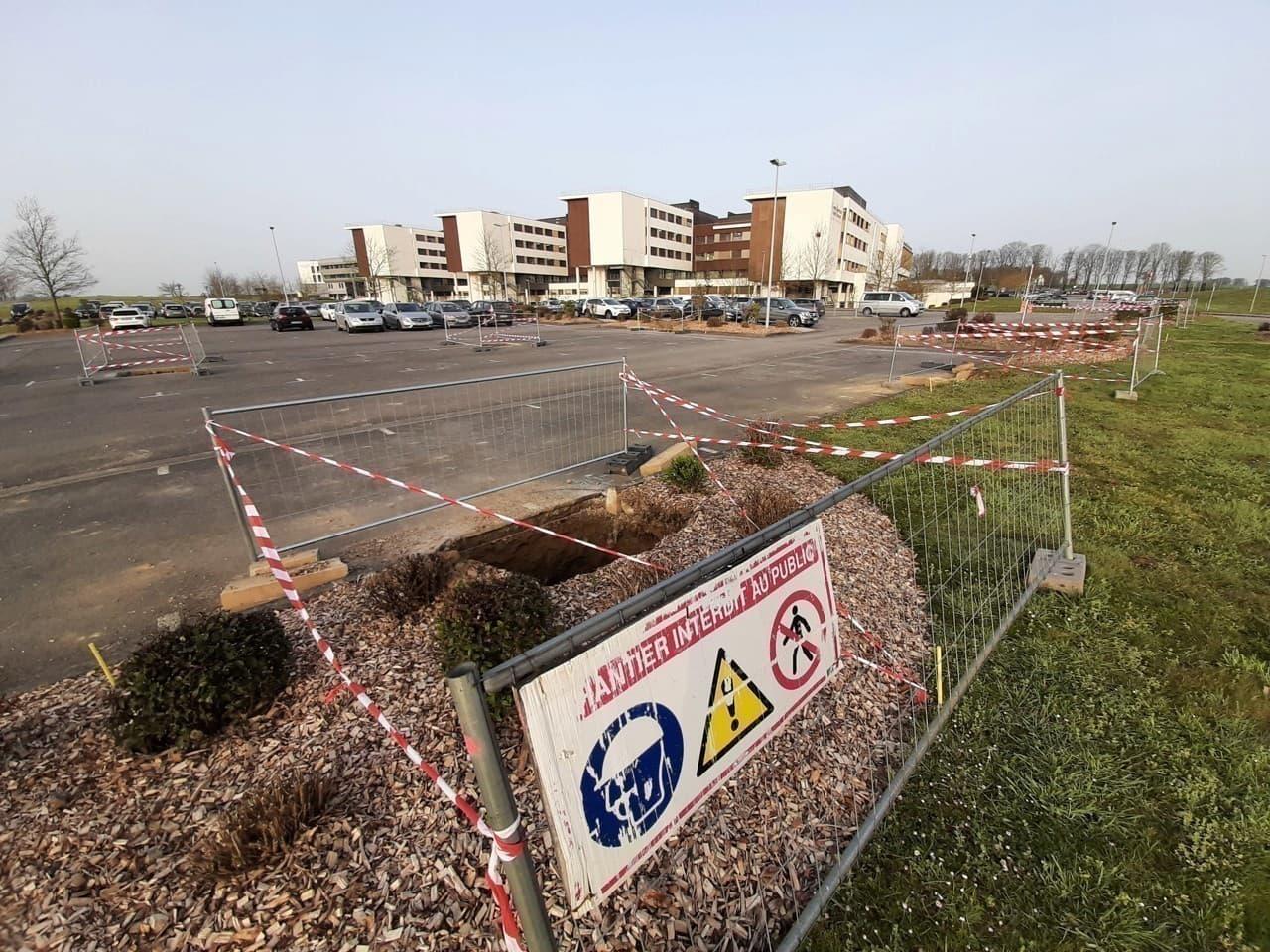 Parking du centre Hospitalier Centre Bretagne