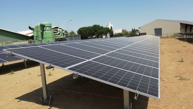 Centrale solaire au sol pour l'agriculture