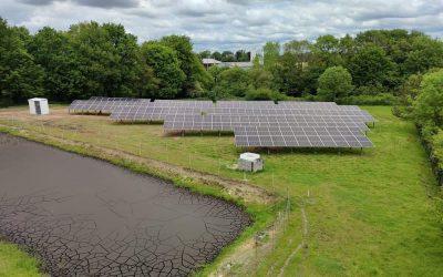 Installation d'une centrale solaire au sol