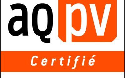 Emeraude Solaire obtient la certification AQPV pour la catégorie 3